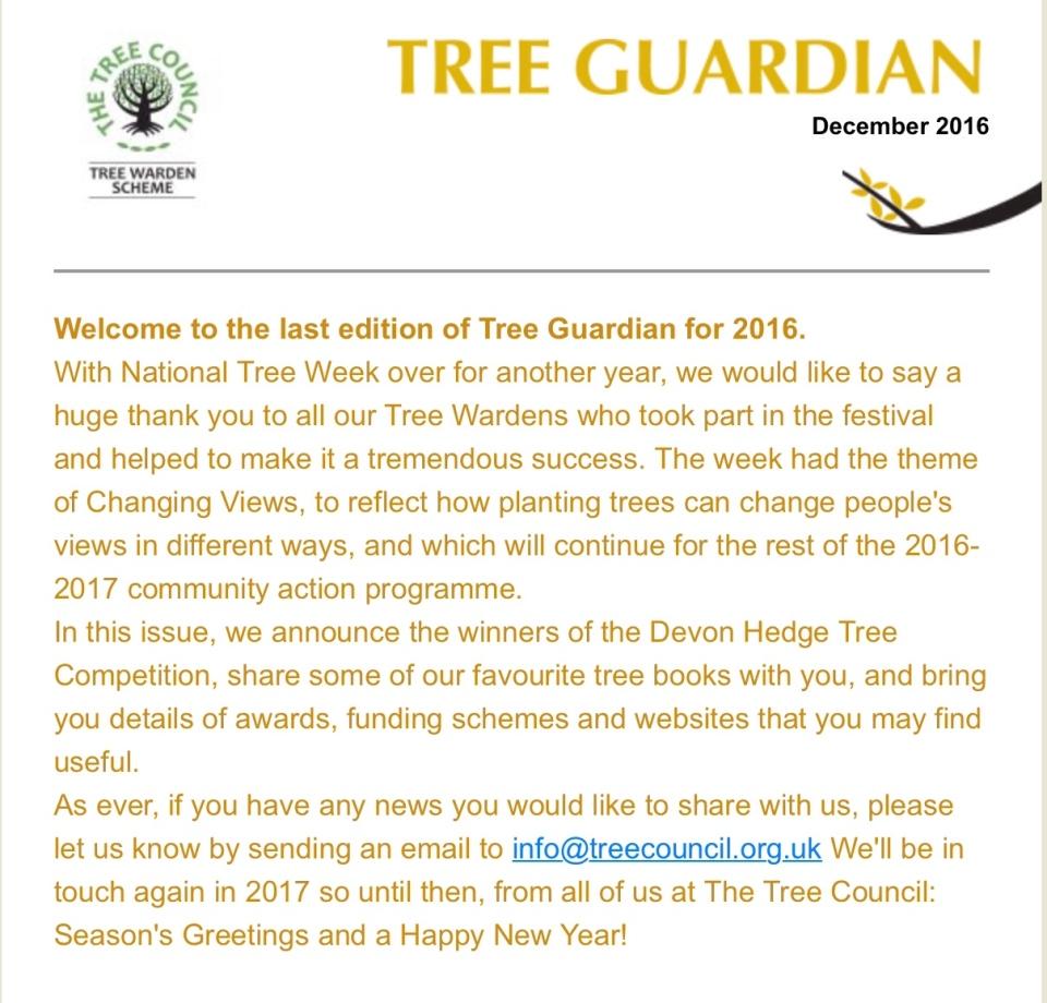 Tree Guardian December 2016
