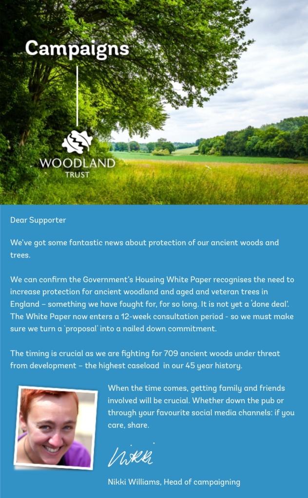 Woodland Trust Newsletter Feb 2017